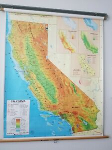 Classroom Roll Down Map Of California Nystrom Maker