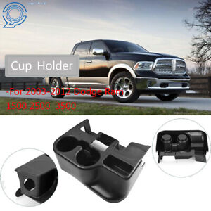 Black Center Console Cup Holder Attachment For 03 12 Dodge Ram 1500 2500 3500