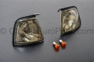 Euro Smoked Front Turn Indicator Set Next To Headlights For Audi 80 4000 B3