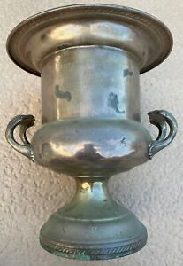 Vintage Fb Rogers Silver Plated Engraved Trophy Cup Champagne Bucket 1982