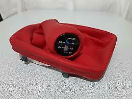 Bmw E36 Shift Knob Gaiter Boot Red Leather 5 Speed