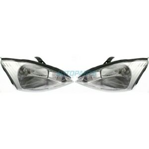 New Right Left Halogen Head Lamp Fits 2000 2002 Ford Focus Fo2503171 Fo2502171