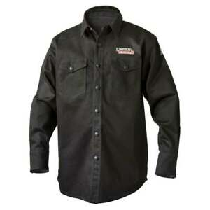 Lincoln Electric K3113 9 Oz Fr Black Welding Shirt 2x large