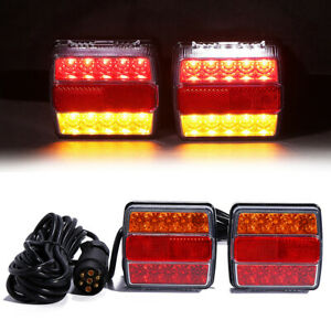 Magnetic Led Trailer Towing Lightboard Lights 7 5 Metre Rear Lamps Tractor