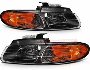 Headlight For 1996 2000 Dodge Caravan Front Replace Head Lamp Assembly One Pair