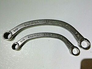 Armstrong Tools Usa 2pc Sae Half moon Obstruction Wrench Set 7 16 5 8 New