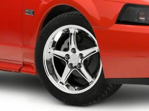 American Muscle Cobra R Style Wheel In Chrome 17x9 Fits Ford Mustang 1999 2004