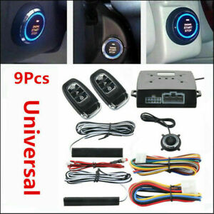 Car Alarm System Passive Keyless Entry Push Button Start Stop Remote Engine