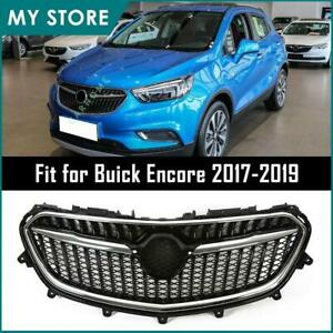 Fits 2017 2018 2019 Buick Encore Front Upper Grille Grill Chrome Black Us