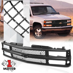 Black Abs Classic Mesh Grille grill For 94 00 Chevy C10 Ck Suburban blazer tahoe