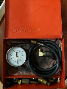 Snap on Tools Mt37 Oil Pressure Gauge Set With Adapters