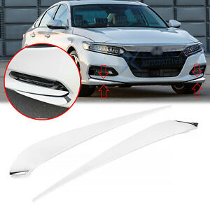 For Honda Accord 2018 2020 Stainless Chrome Front Bumper Protector Corner Trim