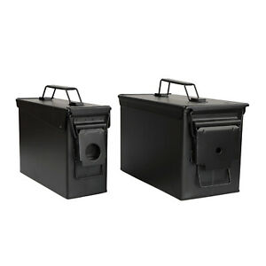 RC Black Waterproof Ammo Box Set 30 and 50 Cal Large Ammo Storage Containers $37.99
