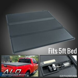 Lock Tri fold Hard Tonneau Cover For 2005 2015 Toyota Tacoma Extra 5ft Short Bed