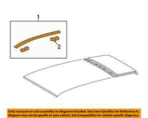 Toyota Oem 09 15 Venza roof Molding Trim Right 755550t023