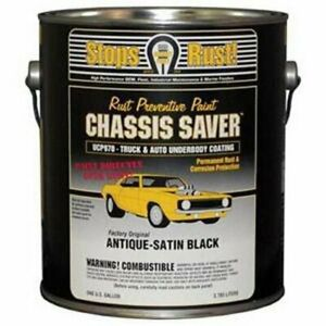 Rust Prevention Paint Chassis Saver Satin Black 1 Gallon