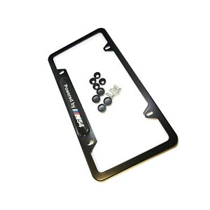 N54 License Plate Frame With Hardware For Bmw Qty 1 Black Powered By N54
