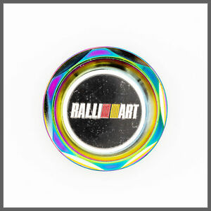 Neo Chrome Ralliart Aluminum Racing Engine Oil Filler Cap For Mitsubishi