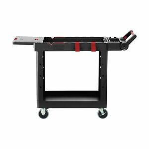 Rubbermaid Commercial Products 1997206 Heavy Duty Adaptable Utility Cart Bla
