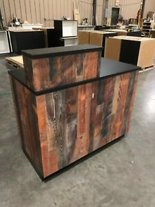 4 Sales Counter Transaction Checkout Cash Wrap Pos Retail Reclaimed Pine