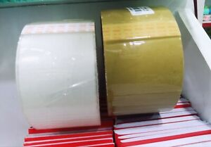Clear Brown Sellotape 48mm X 25m Parcel Packing Sealing Removal Tape Roll