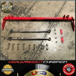 Pro Series Red 88 91 Honda Civic Crx Ef Traction Bar Lower Control Tie Si Dx