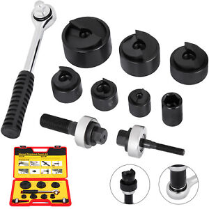 Vevor Cc 60 Knockout Punch Set 1 2 To 2 6 Dies 10 Gauge W Ratcheting Wrench