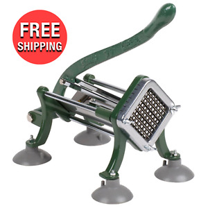 French Fry Cutter Potato Slicer Dicer 3 8 Kitchen Cooking Cutter W Suction Feet