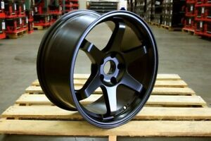 18 Grid Style Black Rims Wheels Fits Mitsubishi Lancer Gts Gt Ralliart Eclipse