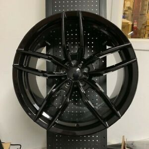 20 Voss Gloss Black Rims Wheels Fits Honda Accord Sport Civic Si