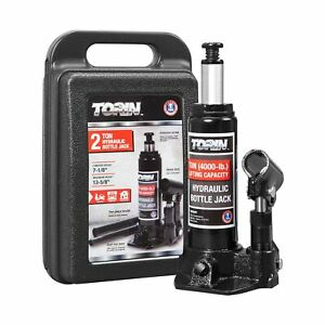 Torin Tam90203s Hydraulic Welded Bottle Jack With Blow Mold Carrying Storage