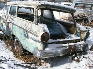 57 58 1957 1958 Ford Fuel Door Assembly Ranchero Or Wagon parting Out Cars