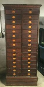 Antique Amberg s Imperial Oak Letter File Cabinet 30 Drawer Circa 1890 s