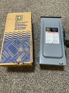 Square D 60 Amp 240 volt 2 pole Fused General Duty Safety Switch new Rough Box
