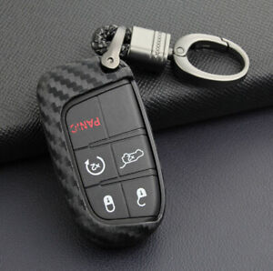 Key Bag Case Keyfob Cover For Jeep Grand Cherokee Chrysler Dodge Journey Charger