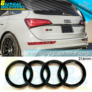 Audi Gloss Black Rear Rings Trunk Liftgate Emblem Logo Badge Q3 Q5 Q7 A6 A8 Sq5