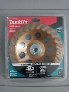 Makita 7 Diamond Cup Wheel 24 Turbo Segment Smooth Finish