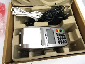 First Data Pos Credit Card Machine Fd100 Terminal New In Open Box