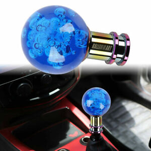 Ralliart Crystal Blue Round Ball Shift Knob For Manual Shifter Car Racing Gear