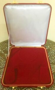 Red Deluxe Xl Large 8 Inch Jewelry Gift Box Plush Velvet Necklace Presentation