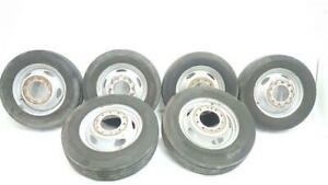 Set Of 6 Dually 19 5 Rims With Tires Oem 2012 Ford F450sd R350804