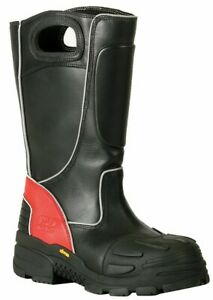 Fire dex Fdxl 100 Leather Firefighter Boots Size 12 Wide Leather Fire Boots