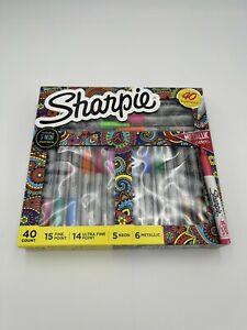 Sharpie 40 Markers Set assorted Colors fine Point ultra Fine neon Metallic