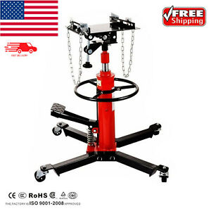 1660 Lbs Transmission Jack 2 Stage Hydraulic W 360 For Car Lift 0 75 Ton New
