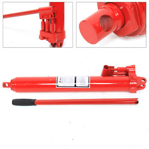 3t Manual Double single Pump Hydraulic Ram Floor Jack Lift Hoist Cherry Picker