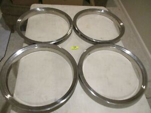 Chevy gmc Truck van 16 Stainless Steel Trim Rings Set Of 4 Oem 28