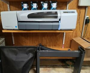 Hp Designjet 510 Printer With Upgraded Memory Spare Ink Cartidges And Stand
