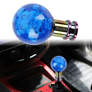 Nismo Crystal Blue Round Ball Shift Knob For Manual Shifter Car Racing Gear