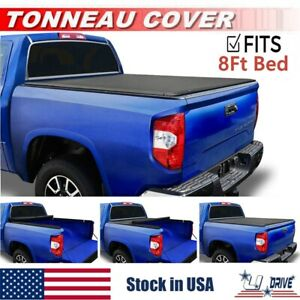 Roll Up Soft Tonneau Cover For 2003 2018 Dodge Ram 2500 3500 8ft 96in Long Bed