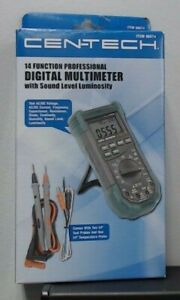 Cen tech 14 Function Professional Multimeter With Sound Luminosity 98674